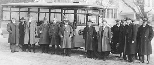 First Gasoline-Powered Bus