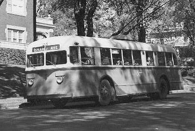 First Electric Trolley Bus